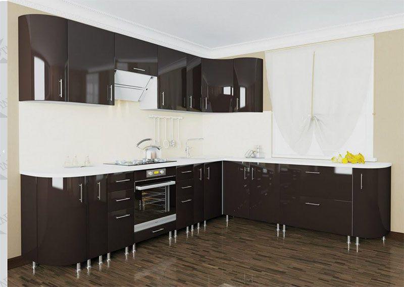 кухня хай глосс фото вываливает обвисшие
