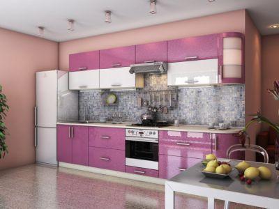 Кухня прямая, 2 цвета